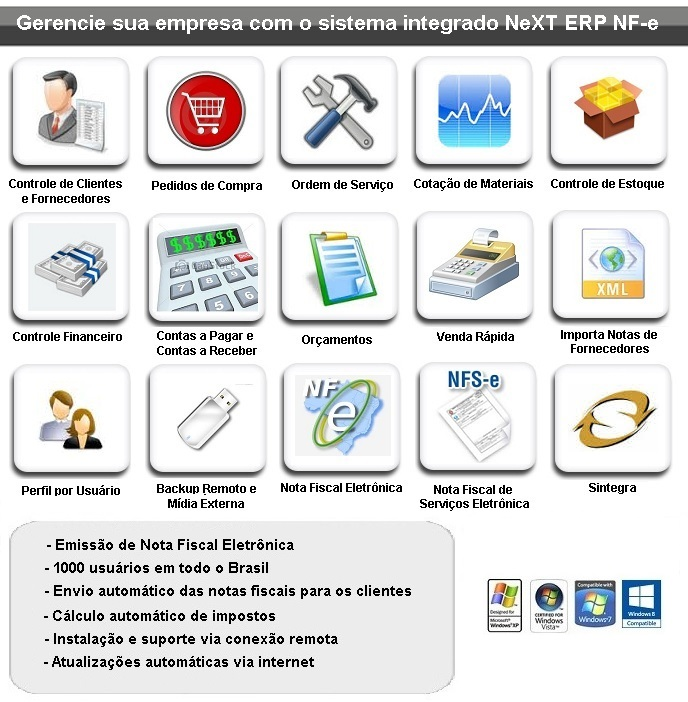 NeXT ERP NFe NFSe Plus Sistema Gerencial