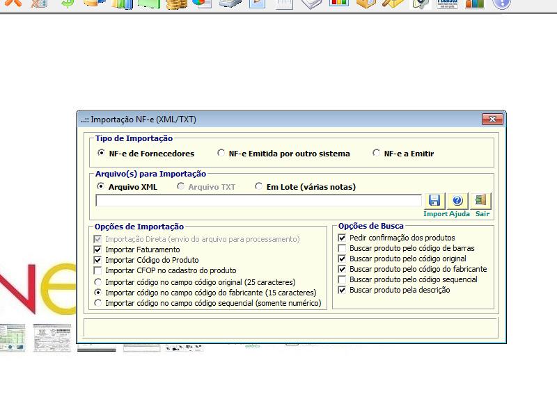 NeXT ERP - Entrada de Nota Fiscal via importação XML