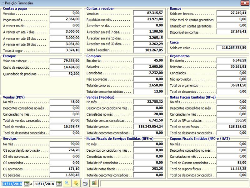 NeXT ERP - Posição Financeira