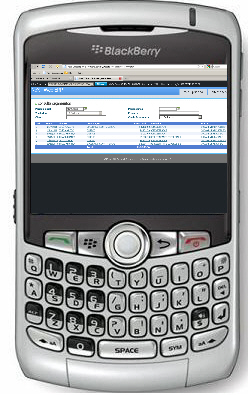 NeXT Web ERP Blackberry