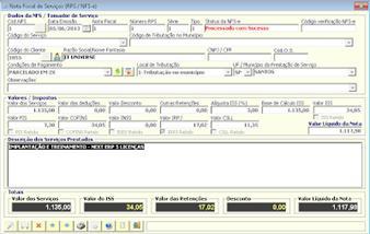 NeXT ERP NFe NFSe Plus Lote RPS envio NFS-e