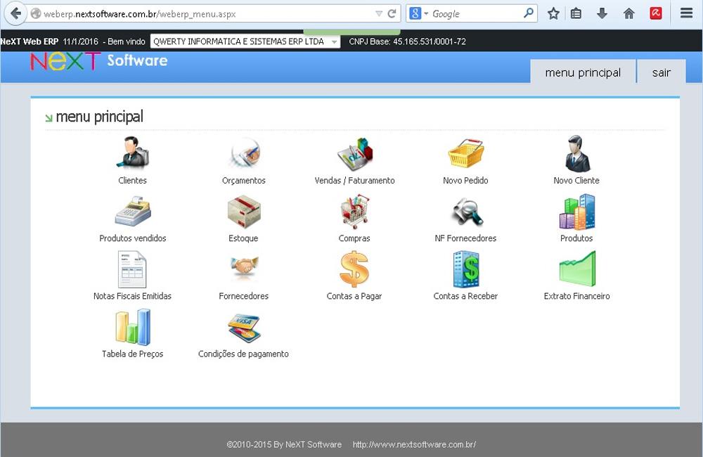 NeXT Web ERP