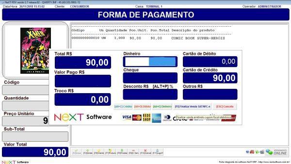 Sistema NeXT ERP para Livraria E Revistaria - PDV com emissão de cupom fiscal