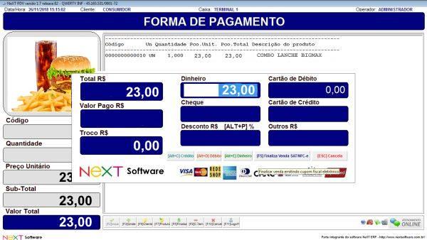 Sistema NeXT ERP para Loja De Conveniência - PDV com emissão de cupom fiscal