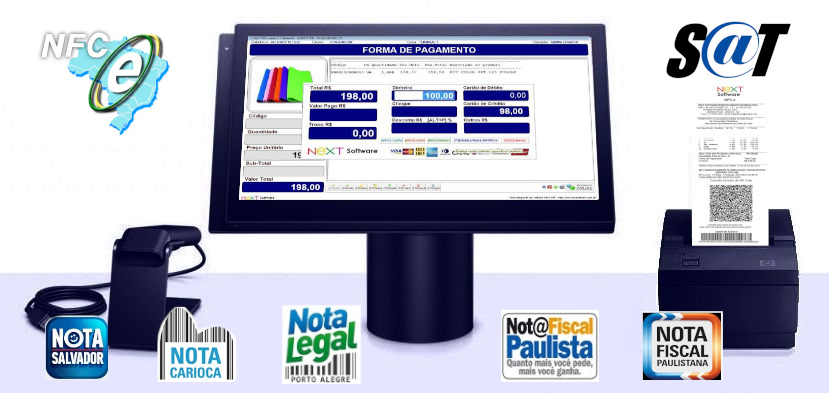 Sistema NeXT ERP para Comércio de Pescados - PDV com emissão de cupom fiscal