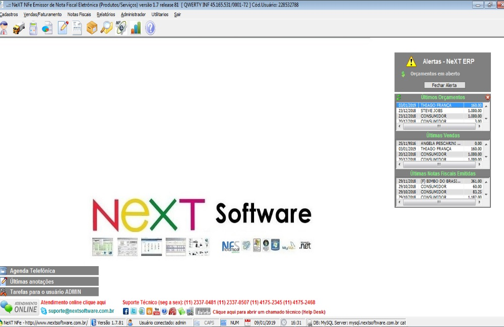 NeXT ERP - Sistema gerencial completo para pequenas e médias empresas
