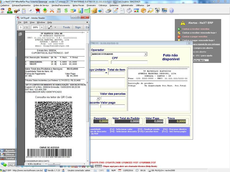 NeXT ERP - NFC-e