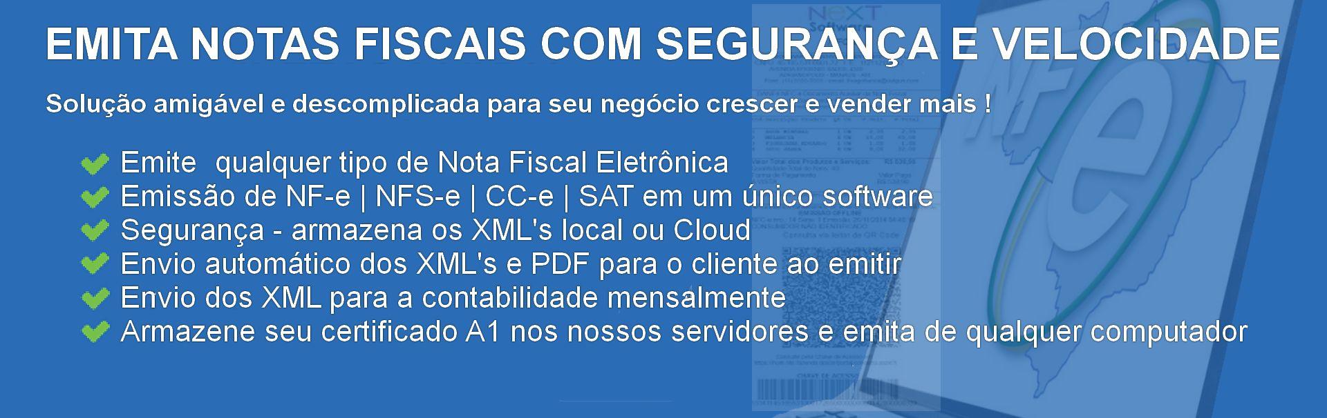 NeXT ERP - Sistema emissor de qualquer tipo de Nota Fiscal