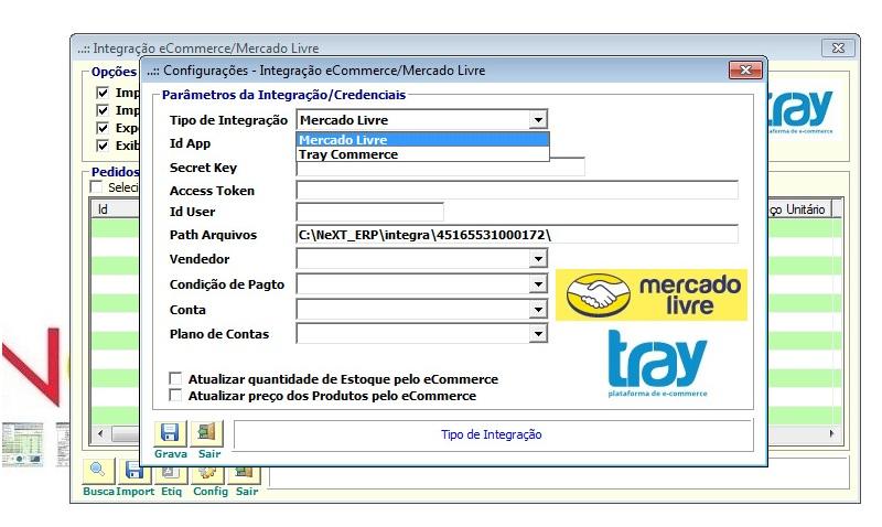 NeXT ERP - Integração com o e-Commerce / Mercado Livre